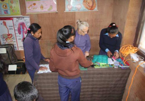 Sanitary Kits Sewing Project Junbesi